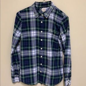 J. Crew Blue / Green / White plaid shirt. XS